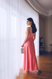 Satin Maxi Dress from Bloom collection - Amelie Baku Couture