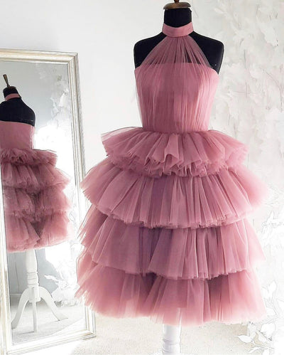 CAROLINE GOWN PINK - Amelie Baku Couture