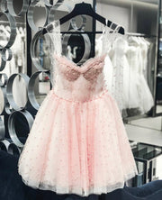 Midi&Mini Pearl Detailed Dress from Bloom Collection - Amelie Baku Couture