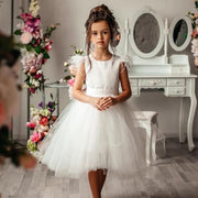 White Angel Tulle Dress for Girls - Amelie Baku Couture