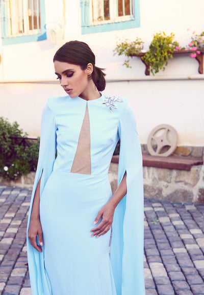 Perla dress with floor length sleeves