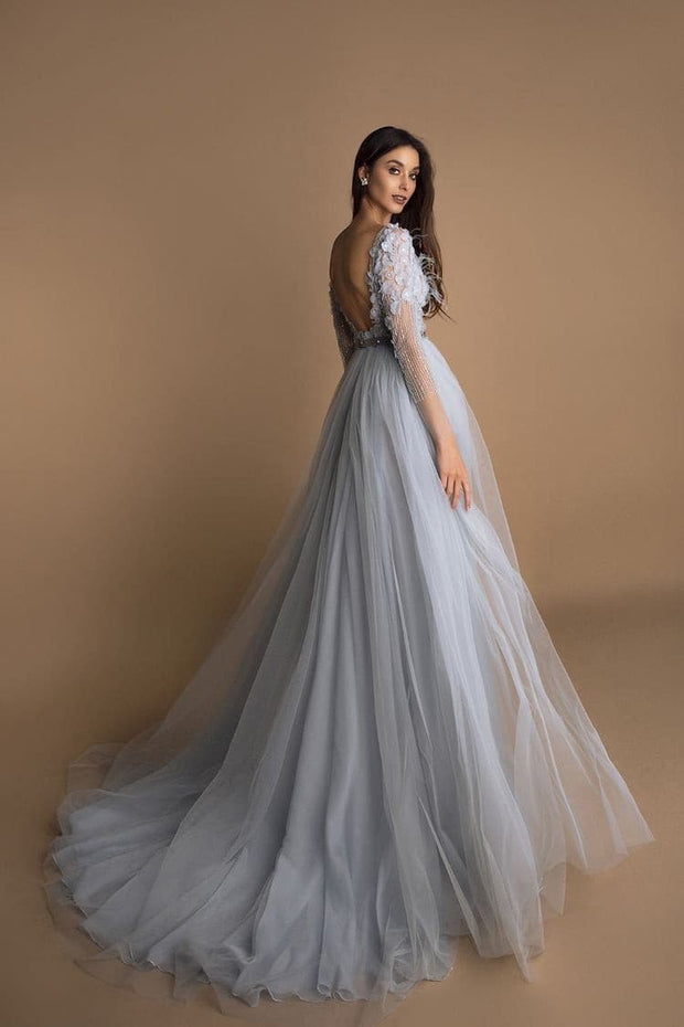 Moira İce Blue Evening Dress