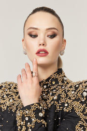Rosie 18K Gold Earring & Ring - Amelie Baku Couture