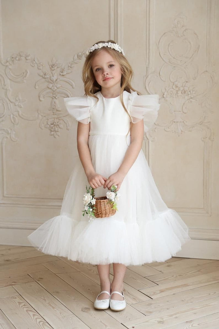Flower girl dress with air wings by Amelie