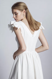 Malena Midi Dress from Bloom collection in White