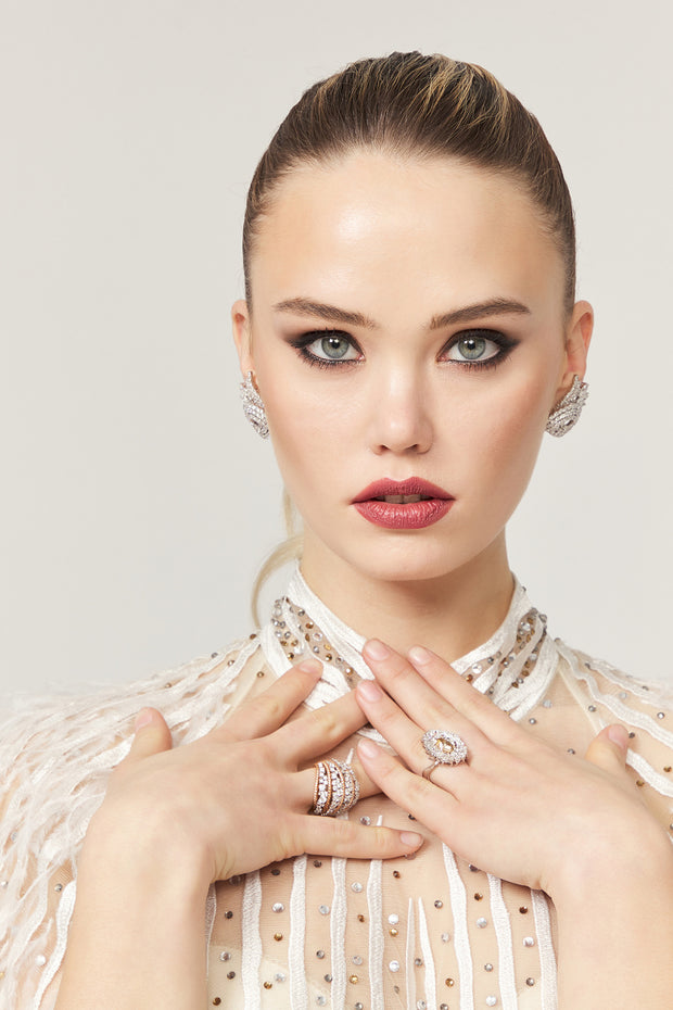 Bryanna Earring &Rings - Amelie Baku Couture