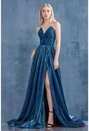 Sophisticated strapless formal with flare
