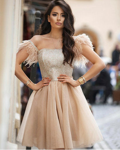 Fascinating tulle short dress by Amèlie