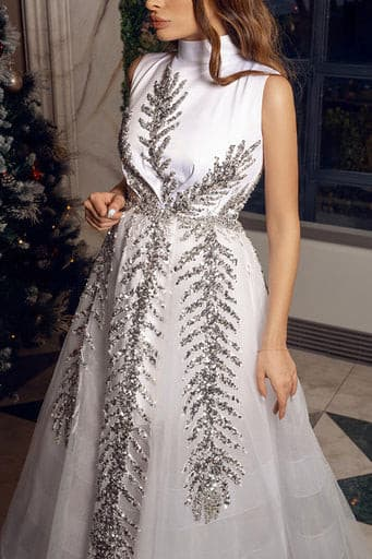SNOWFLAKE GOWN - Amelie Baku Couture