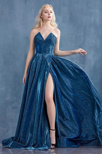 Sophisticated strapless formal with flare - Amelie Baku Couture
