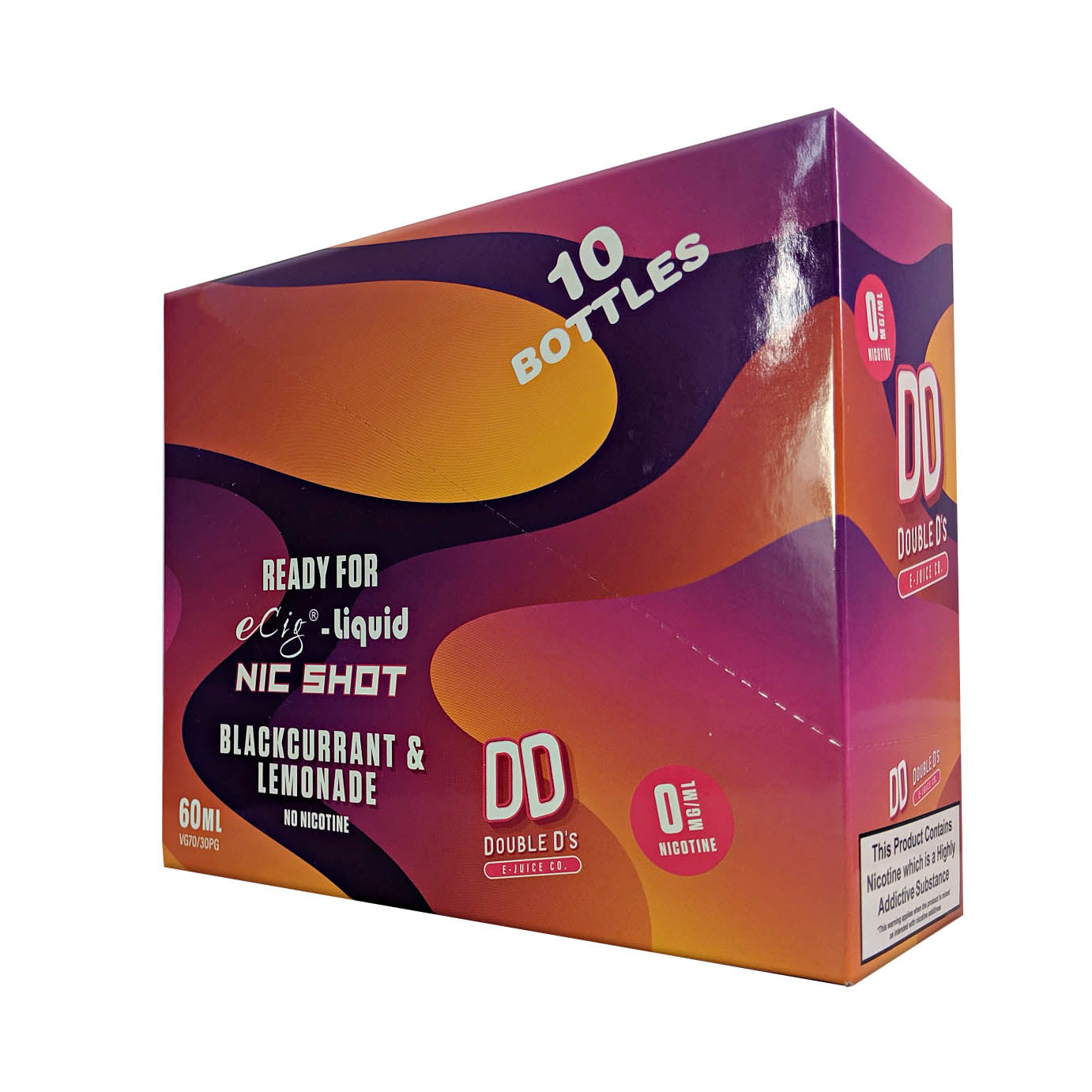 DD Double D's 10 Pack Blackcurrant & Lemonade 50ml E-Liquid