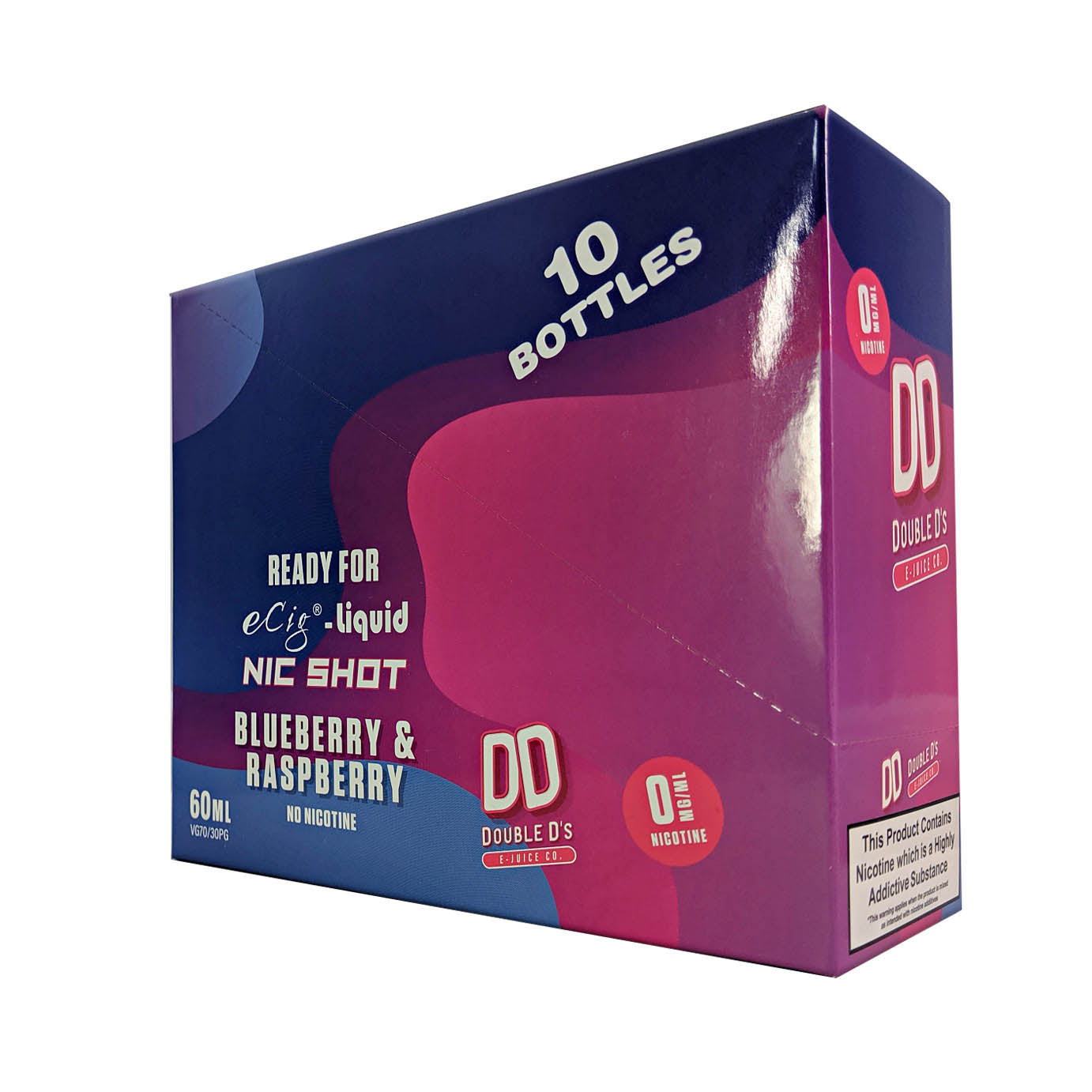 DD Double D's 10 Pack Blueberry & Raspberry flavoured 50ml E-Liquid
