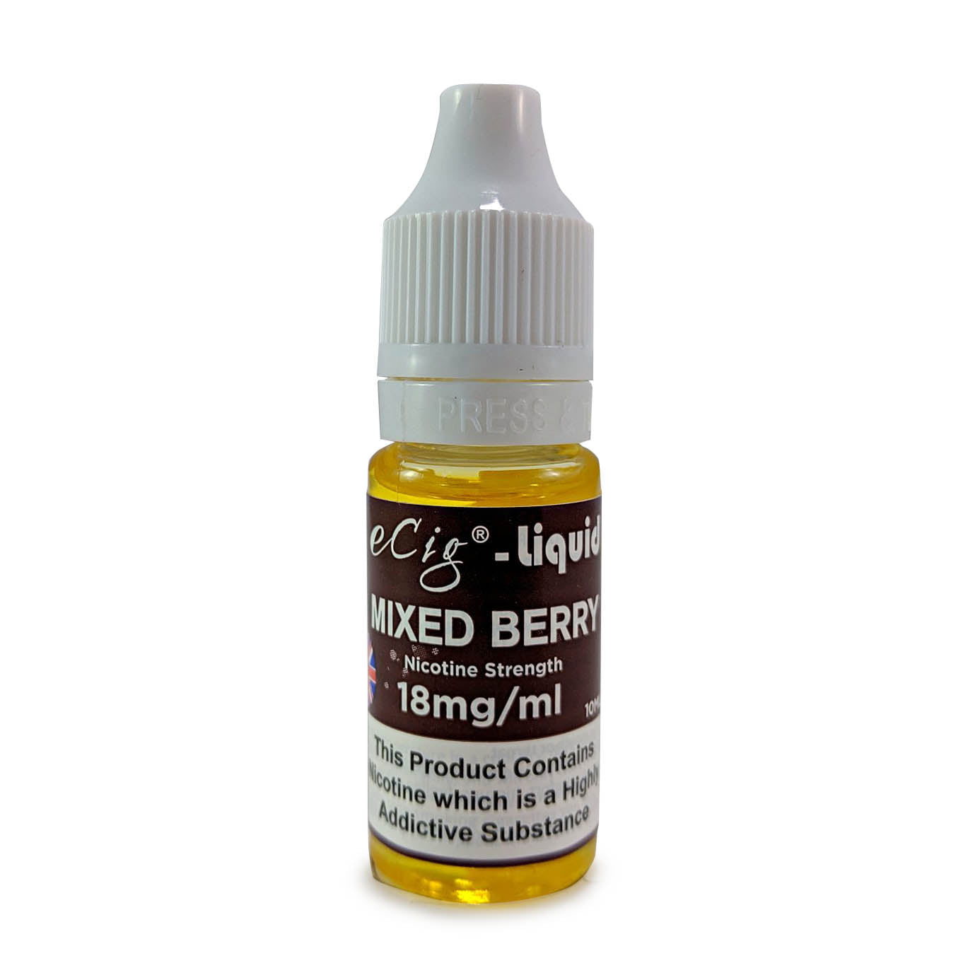 eCig-liquid Mixed Berry 18mg 10 Pack