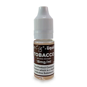 eCig-liquid Tobacco 18mg 10 Pack