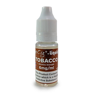 eCig-liquid Tobacco 6mg 10 Pack