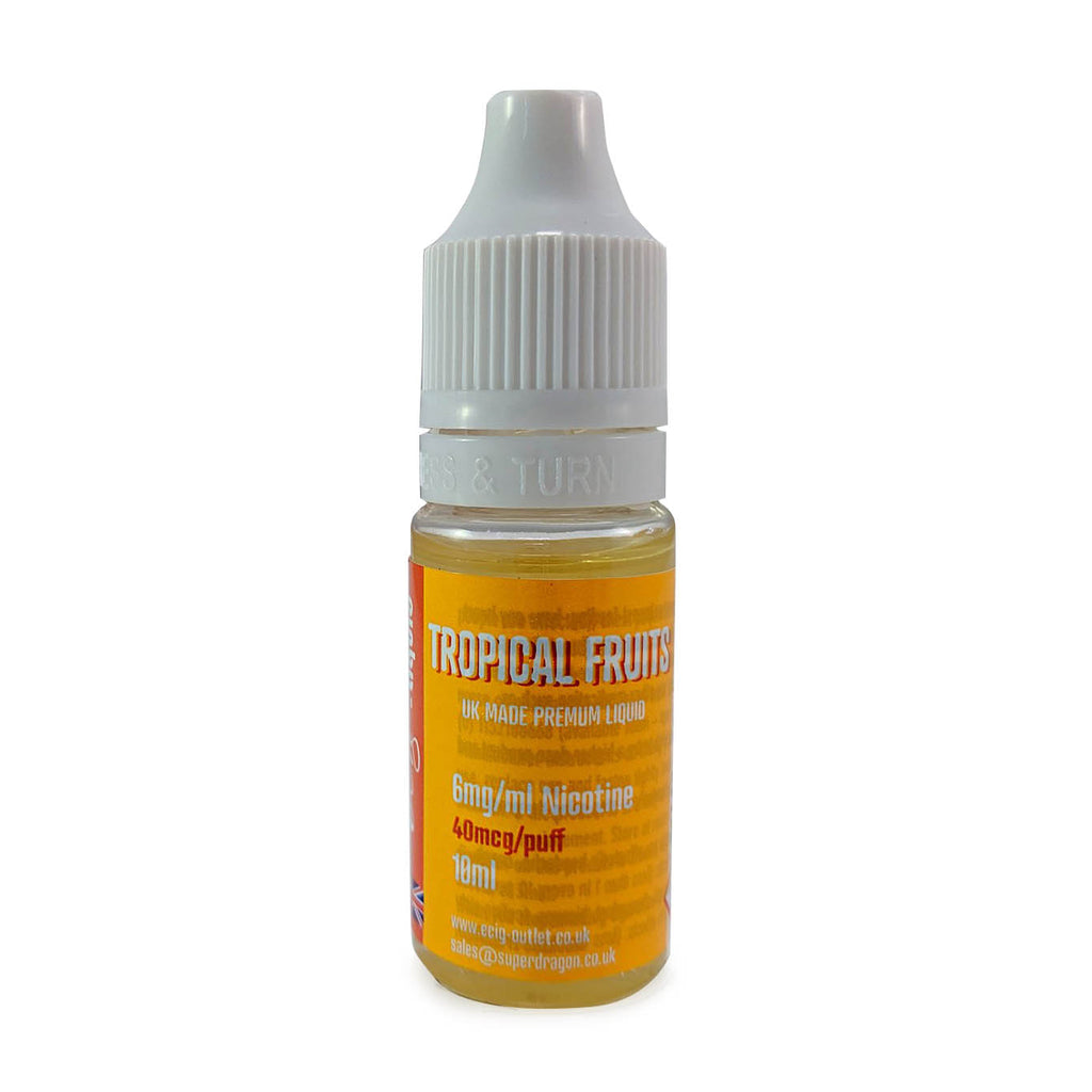 eCig-liquid Tropical Fruits 6mg 10 Pack