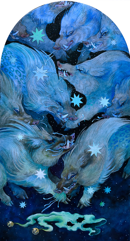 "Morgaine Faye - ""Grim Blue Swine"""
