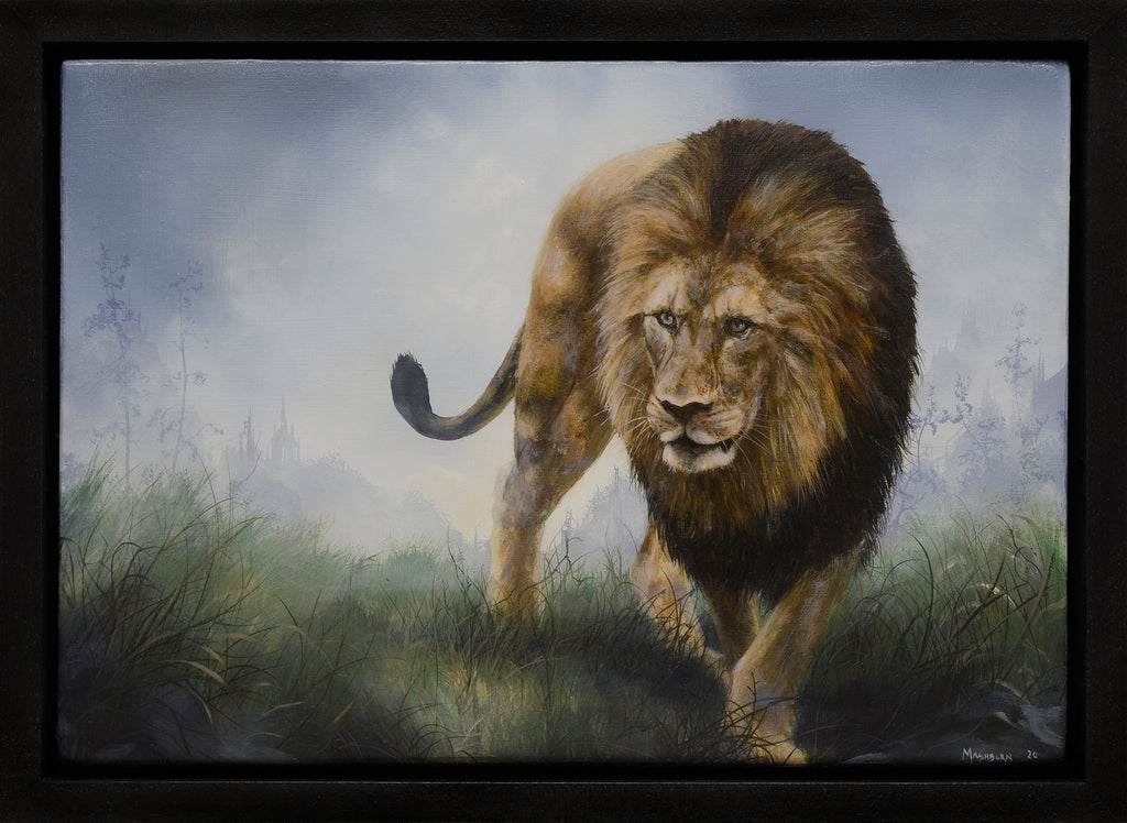 Brian Mashburn - Lion Walking in Tall Grass
