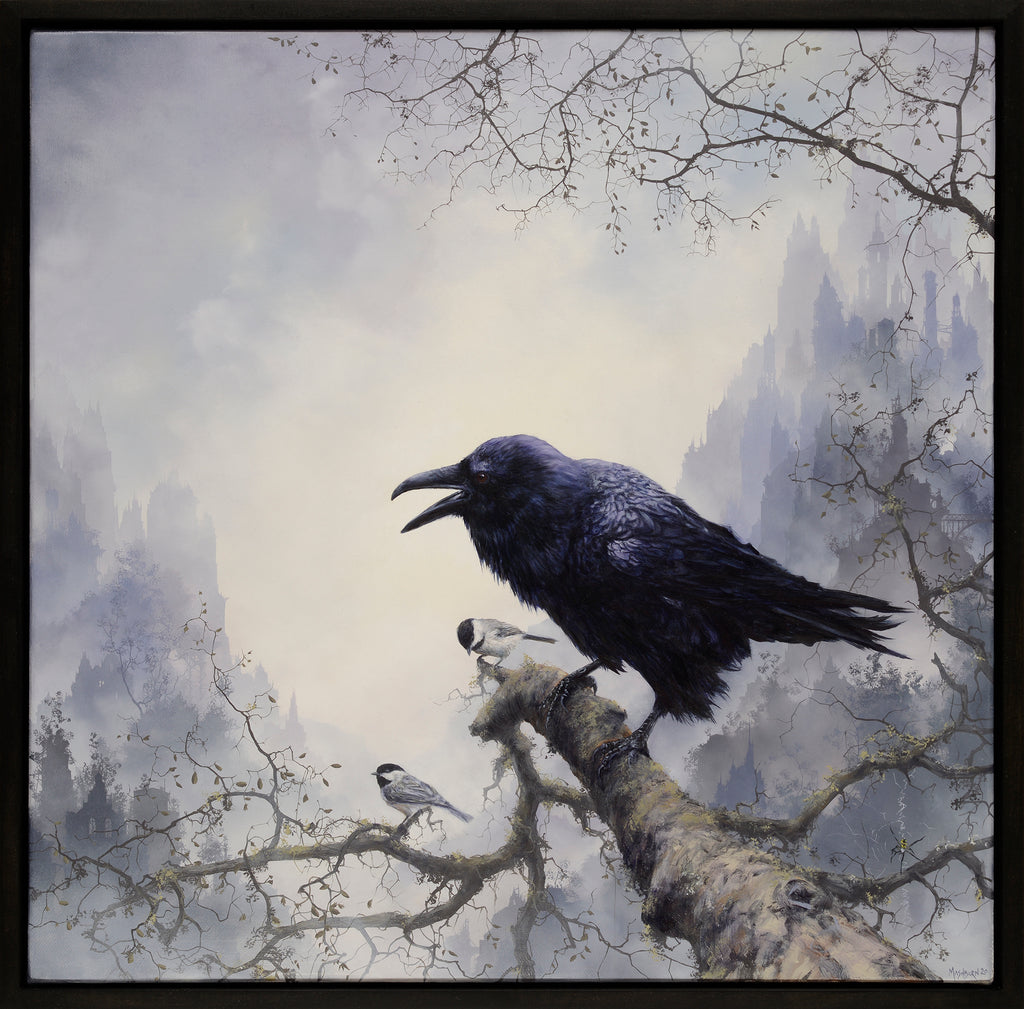 Brian Mashburn - Raven with Chickadees