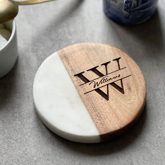 Heart Shaped Marble Coasters