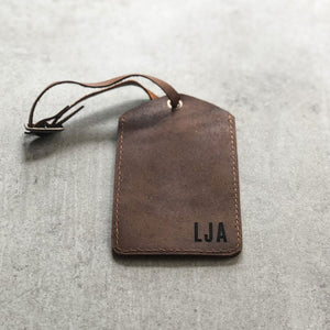 Personalised Leather Travel Tag
