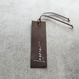 Personalised Italian Leather Bookmark
