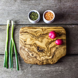 Rustic Olive Wood Cheese Board - 20 x 15 x 2cm