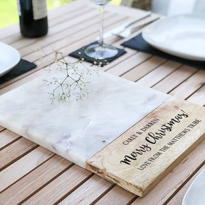 Personalised 'Christmas' Marble Serving/Cheese Board