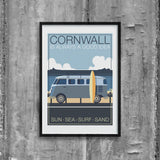 Original Cornwall Illustration Print