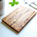 Personalised Olive Wood Cheese/Chopping Serving Board
