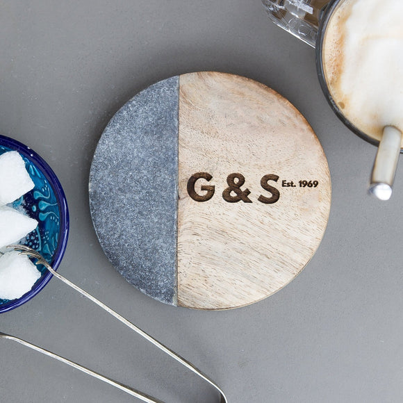 Personalised 'Couples' Marble Coaster
