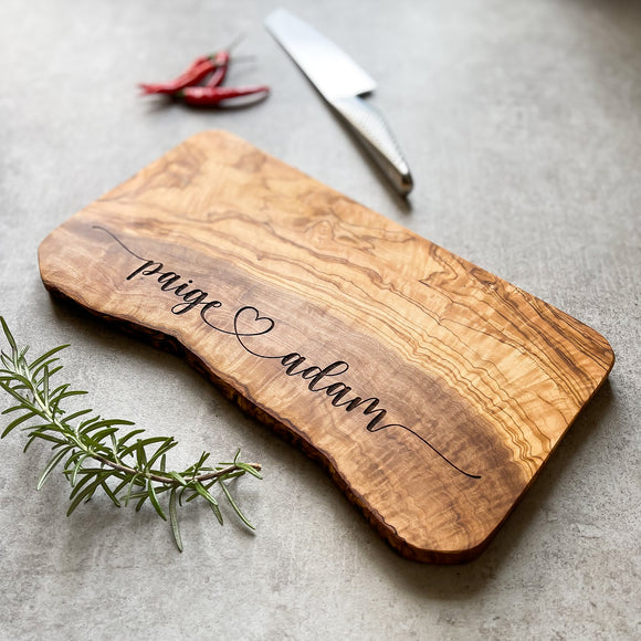 Personalized Wedding Anniversary Cheese Board Gift
