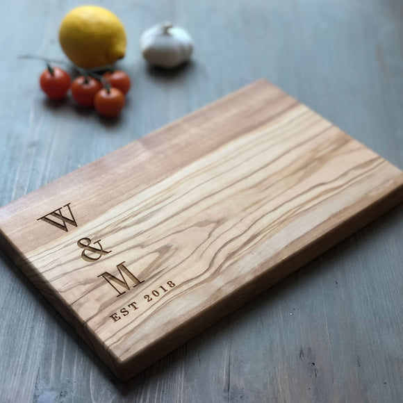 Personalised Wedding Cheese Board Gift