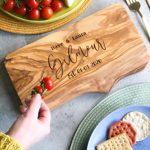 Personalised Anniversary Cheese Board