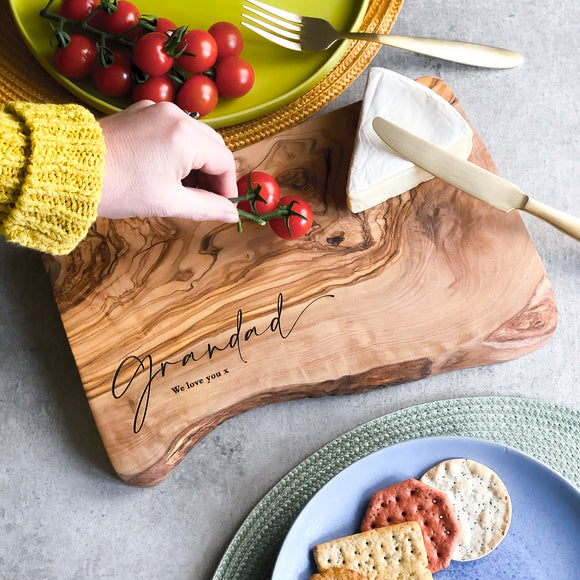 Personalised Gift Cheese / Chopping Board