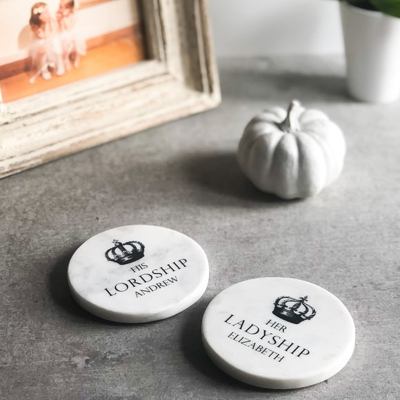 Personalised Marble Coasters