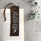 Italian Leather Bookmark - Books let you travel without moving your feet