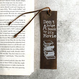 Italian Leather Bookmark - Don't Judge A Book by its Movie
