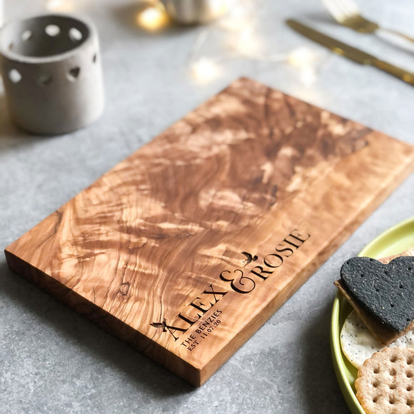 Personalised Italian Chopping, Bread, Cheese Board