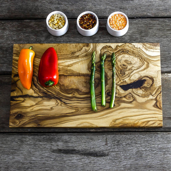Olive Wood Herb Chopping / Cheese Board