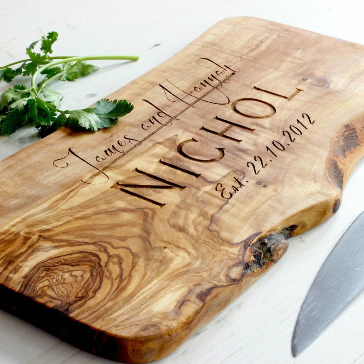 Personalised Rustic Cheese Chopping Board Wedding Anniversary Christmas Gift The Rustic Dish Ltd