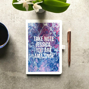 Personalised Tie-Dye Printed Vegan Leather Journal
