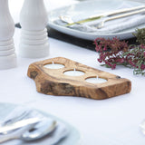 Contemporary Olive Wood Tealight Holder