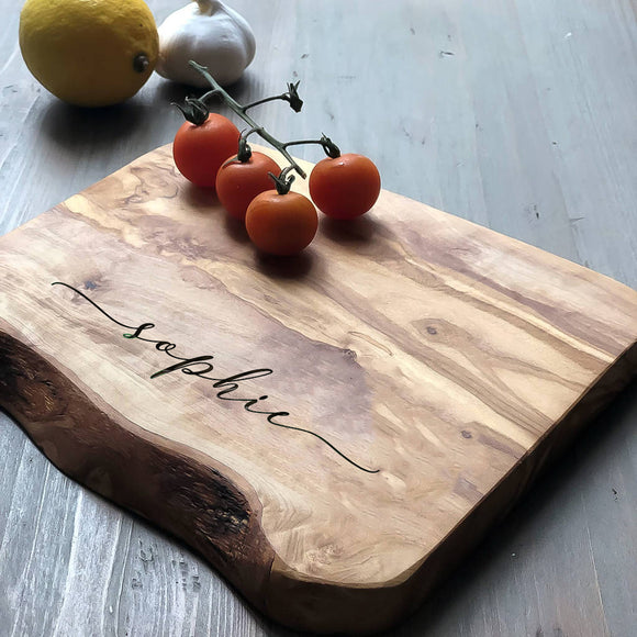 Personalised Rustic Wooden Cheese/Chopping Board