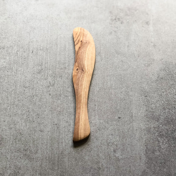 Olive Wood Butter Knife - Length 19cm
