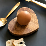 Olive Wood Heart Shape Egg Holder
