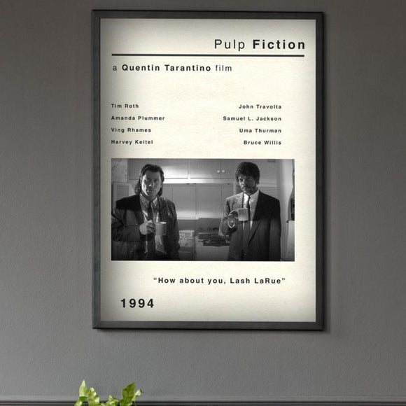 Original Vintage Style Pulp Fiction Movie Poster