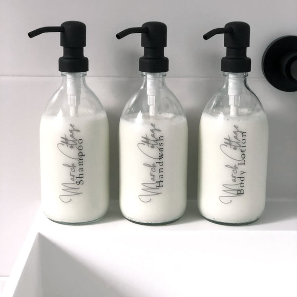 Personalised Bathroom 500ml Dispenser with Pump