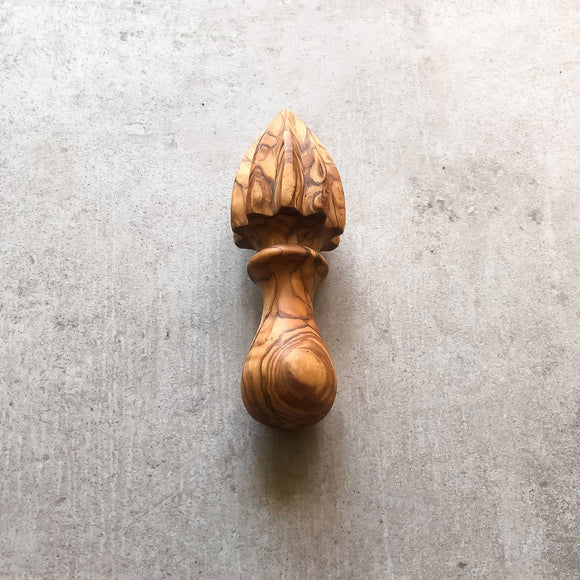 Traditional Olive Wood Lemon Squeezer