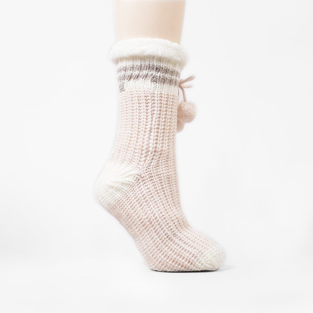 Canadiana Reading Sock - Millennial Pink